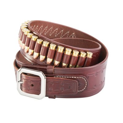 NRA Western Tooled Cartridge Belt