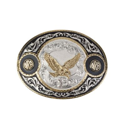 NRA Silver and Gold Plated Buckle