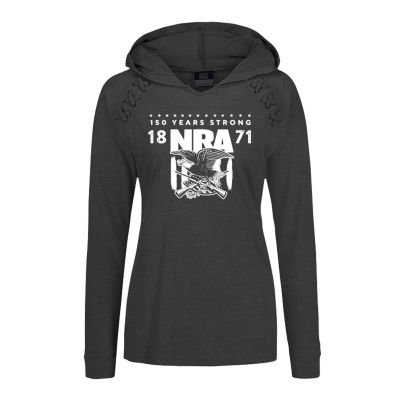 CO 30522, NRA 150 Years Strong LAdies Hooded Pullover
