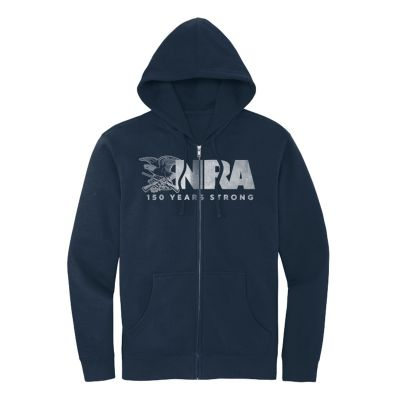 CO 30523, NRA 150 Years Strong Classic Zippered Hoodie 1