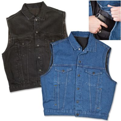 NRA Concealed Carry Denim Vest