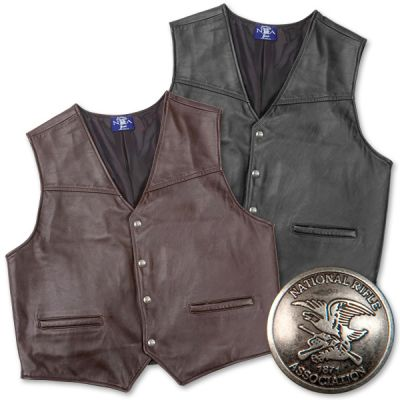 The Virginian CCW Leather Vest