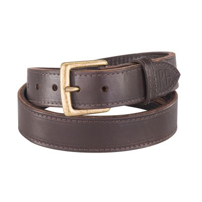 NRA El Dorado Double Thick Cash 'N' Carry Belt Brown 32