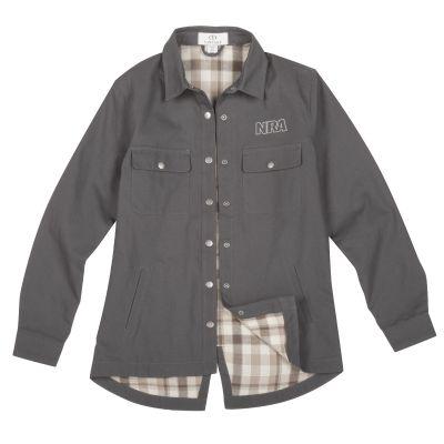 Women's NRA Shirt-Jac-Gray-S