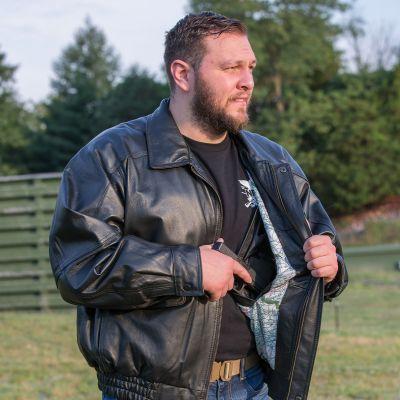 CO 734 - NRA Leather Bomber Jacket