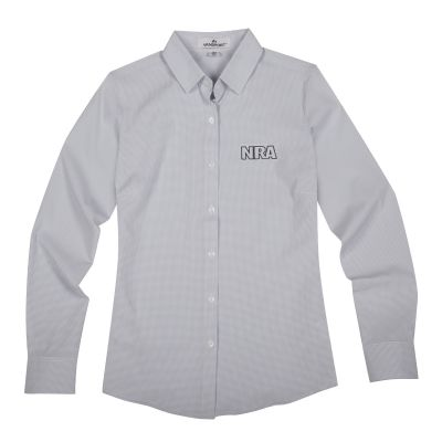 Women's NRA Dress Shirt-Light Grey-S