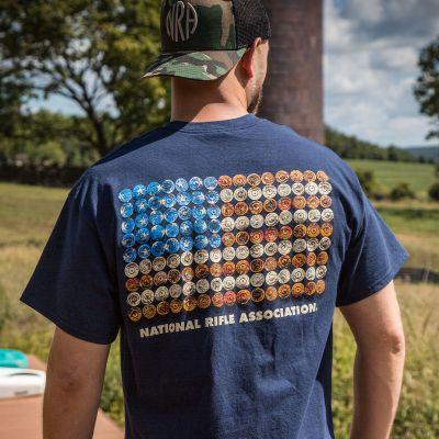 NRA Star Spangled Brass T-Shirt