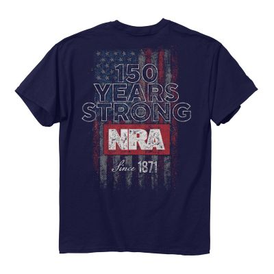 NRA 150 Years Strong Flag T-Shirt - CT 175