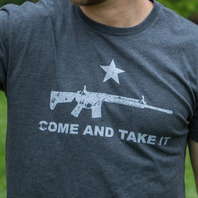 NRA Come and Take It Tee AR-15 Chest Logo