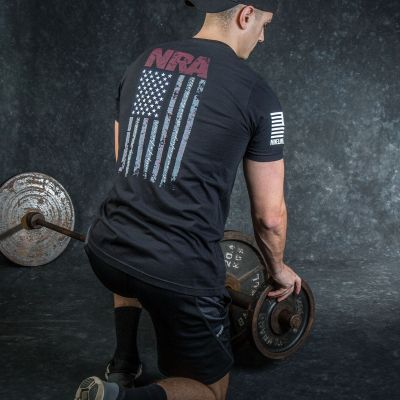NRA Nine Line Flag Pledge T-Shirt