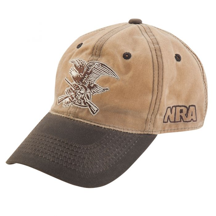 f9bbf40bc80d1 NRA Waxed Cotton Eagle Hat