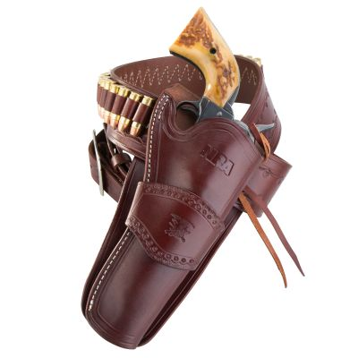 NRA Western Tooled Holster and Belt