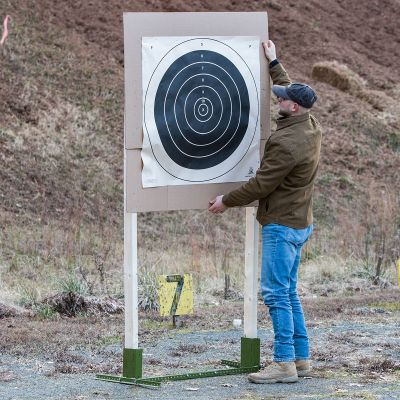 NRA Long Range Portable Target Stand in the field