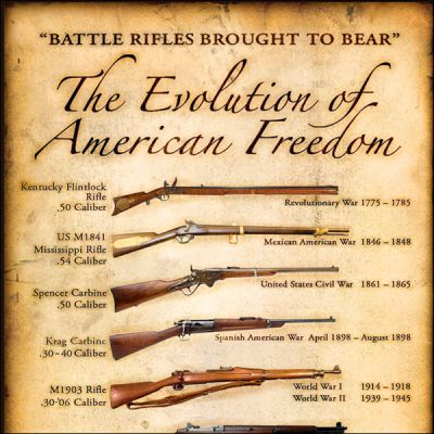 "NRA ""Evolution of American Freedom"" Framed Prints"