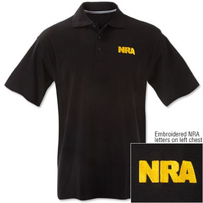 NRA Black and Gold Polo