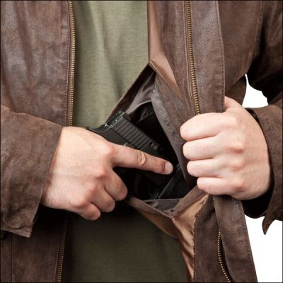 NRA Concealed Carry Leather Jacket