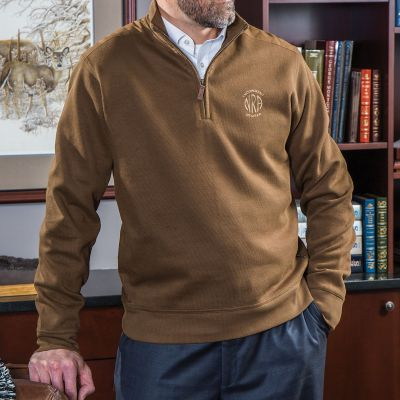 NRA Men's Saratoga ¼ Zip Embroidered Pullover