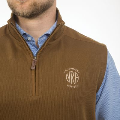NRA Men's Saratoga ¼ Zip Embroidered Vest