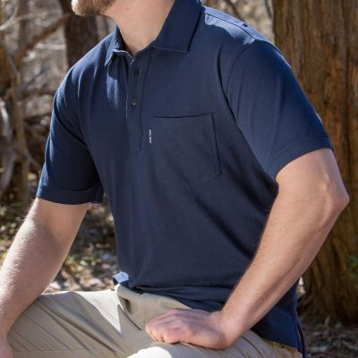 NRA 1871 Weekender Classic Pocket Embroidered Polo