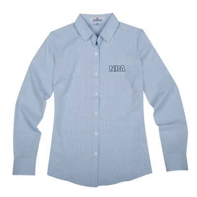 Women's NRA Dress Shirt-Light Blue-S