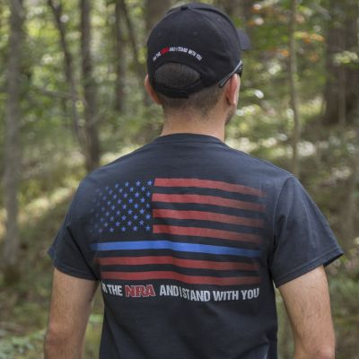"NRA ""Thin Blue Line"" T-Shirt"