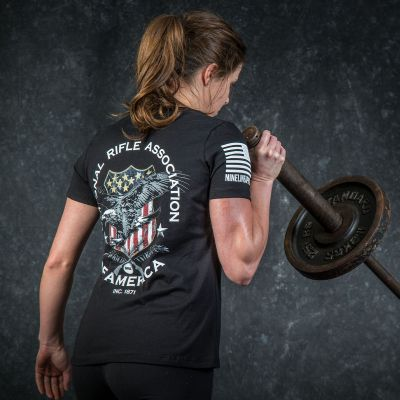 NRA Nine Line Ladies American Shield T-Shirt