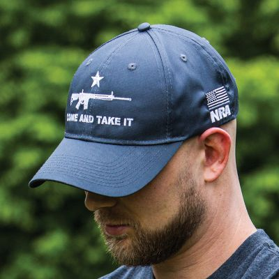 NRA Come and Take It AR-15 Cap - Steel Gray