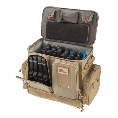 NRA Deluxe Tactical Rolling Range Bag Coyote Open