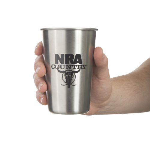 NRA Country Stainless Steel Pint Glass