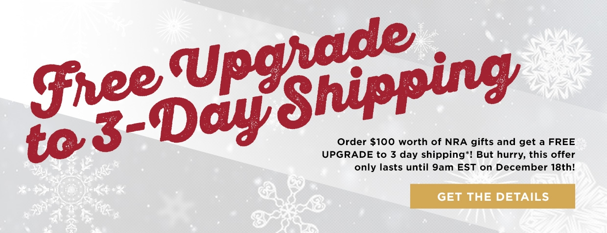 Free Upgrade to 3-Day shipping
